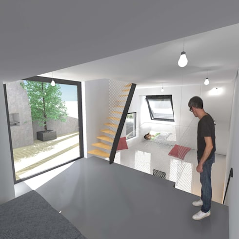 sur l vation partielle d immeuble en plein c ur de paris par hanuman architecture homify. Black Bedroom Furniture Sets. Home Design Ideas