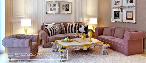 Apartamento de Luxo: Salas de estar clássicas por Espazio - Home & Office