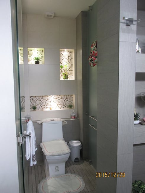 trabajos: Baños de estilo  por Obras y reformas de vivienda,proyectos de arquitectura en Tabasco.