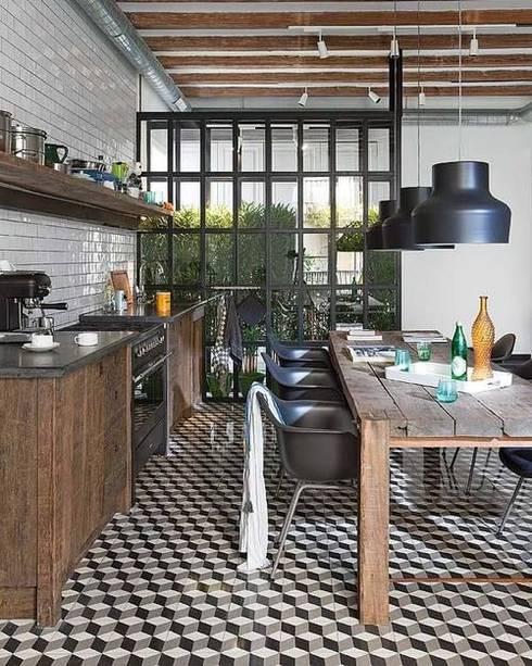 Il cubo torna di moda...: Pareti & Pavimenti in stile in stile Moderno di Mosaic del Sur