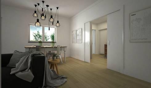 Moradia: Salas de estar modernas por Maqet