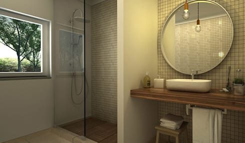 Moradia: Casas de banho modernas por Maqet