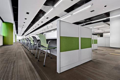 IXE Reforma 489: Estudios y oficinas de estilo moderno por usoarquitectura