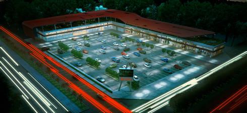 Andrea Epicentro : Estudios y oficinas de estilo moderno por usoarquitectura