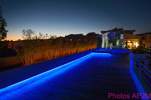 Eclairage terrasse par architecture nature lumi re homify for Lumiere terrasse led