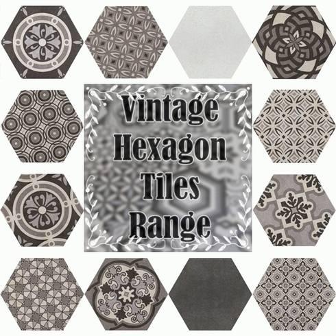 Bathroom Hexagon Range: classic Bathroom by Tilezone