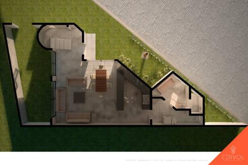 Planta Modificada: Casas de estilo minimalista por CÉRVOL