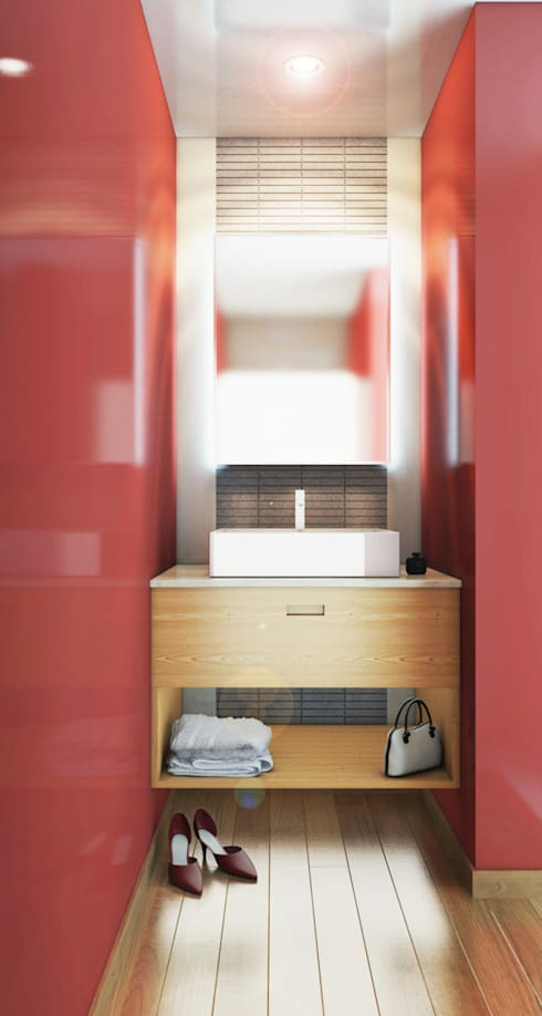 Render baño residencia.:  de estilo  por argueta+f9 arquitectura