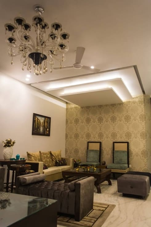 Singh Residence: modern Living room by Studio Ezube