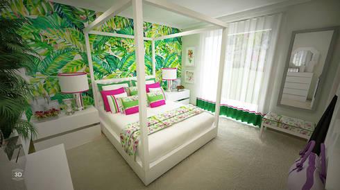 BLOSSOM: Quartos modernos por GRAÇA Decoração de Interiores