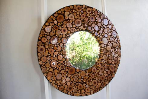 ESPEJO CIRCULAR: Hogar de estilo  por Oscar Leon/ Arte Renovable & Muebles