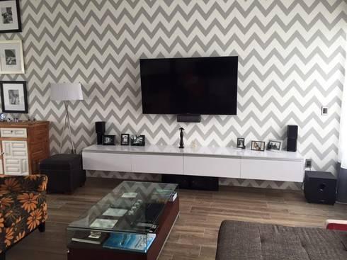 VALLE IMPERIAL: Salas multimedia de estilo moderno por Arki3d