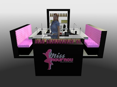 Miss Frou Frou - Beauty & Nail Care: Lojas e espaços comerciais  por Joana Neto | Interiores