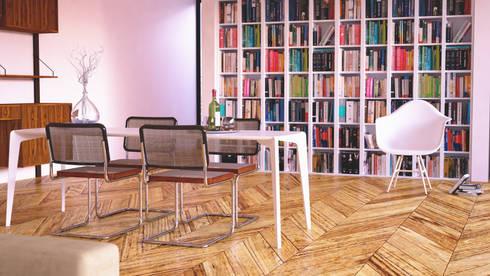 L House: Salas de estar modernas por Antony Simões Studio