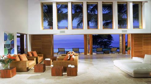 Casa Beidisia: Salas de estilo moderno por José Vigil Arquitectos
