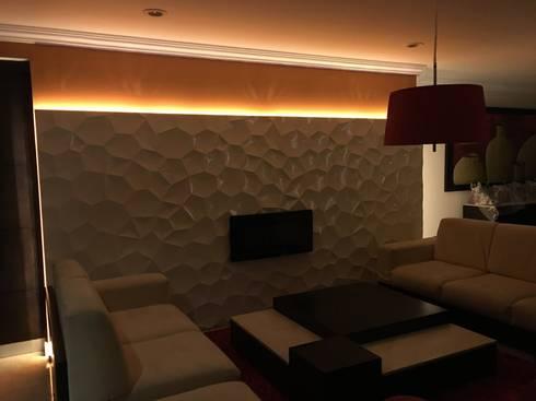 Proyecto terminado.:  de estilo  por Síntesis Arquitectónica ®