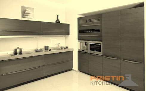 3D kitchen Designs: modern Kitchen by Pristine Kitchen