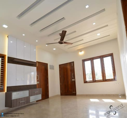 Suresh, vijayanagar: modern Living room by single pencil architects & interior designers
