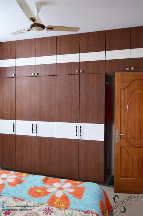 Naveen:  Bedroom by single pencil architects & interior designers