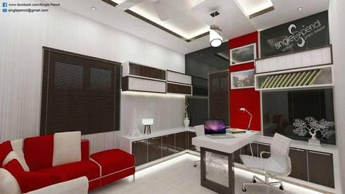 Satyanarayana: modern Study/office by single pencil architects & interior designers