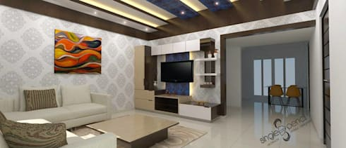 Living Area Designs: modern Living room by single pencil architects & interior designers