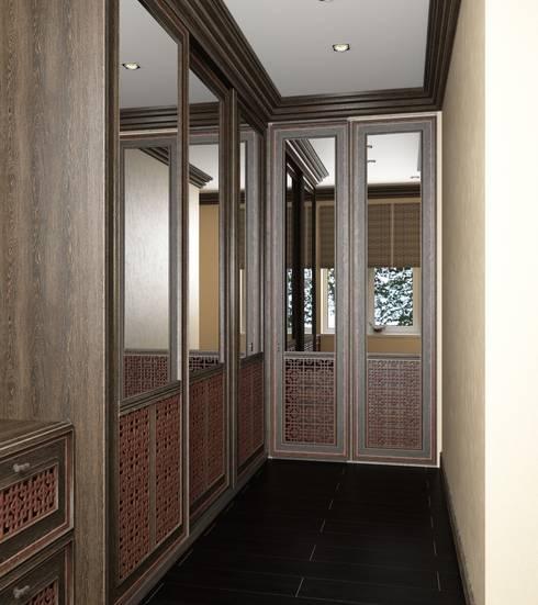 Дом в вьетнамском стиле: Гардеробные в . Автор – Студия дизайна 'New Art'