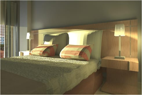 Guest House : Quartos modernos por Joana Neto | Interiores