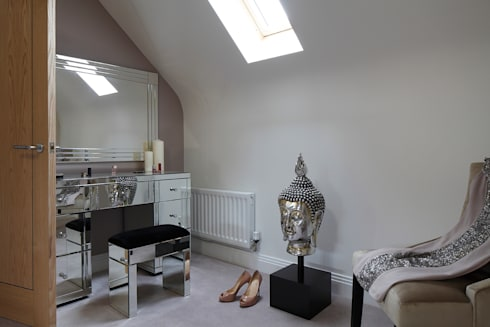 New Build Contemporary Interior Design Ealing : classic Dressing room by Quirke McNamara