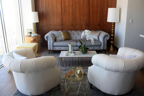 Depto Levant : Salas de estilo clásico por Nomada Design Studio