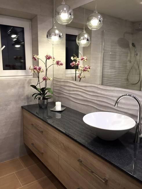 Łazienka: styl , w kategorii Łazienka zaprojektowany przez Pracownia Projektowania Wnętrz Karolina Czapla