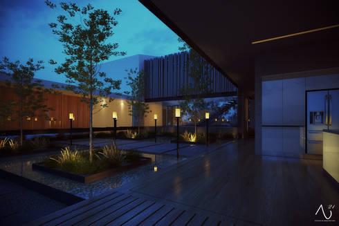 Jardin Interior: Jardines de estilo minimalista por 21arquitectos