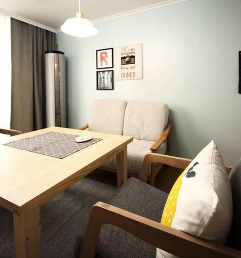 25평형 신혼집 홈 스타일링 : homelatte의  다이닝 룸