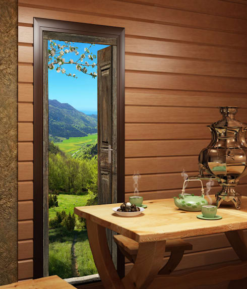 cr er une ambiance de d co chalet de montagne by wall sweet home plage sa homify. Black Bedroom Furniture Sets. Home Design Ideas
