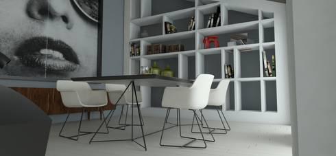 Remodelação sala e Design de Interiores: Sala de jantar  por By N&B Interior Design