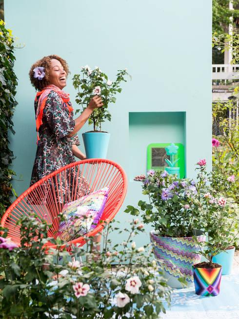 Sommergarten:  Terrasse von Pflanzenfreude.de