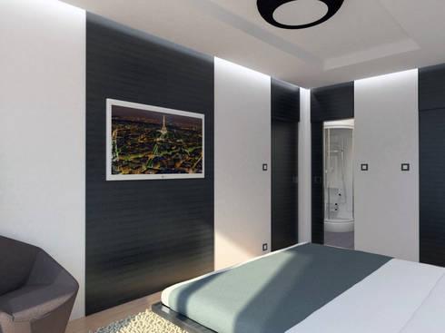 Apartamento (Quarto/Suite): Quartos modernos por Symbioses - Design & Construção