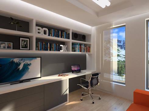 Apartamento (Escritório): Escritórios e Espaços de trabalho  por Symbioses - Design & Construção