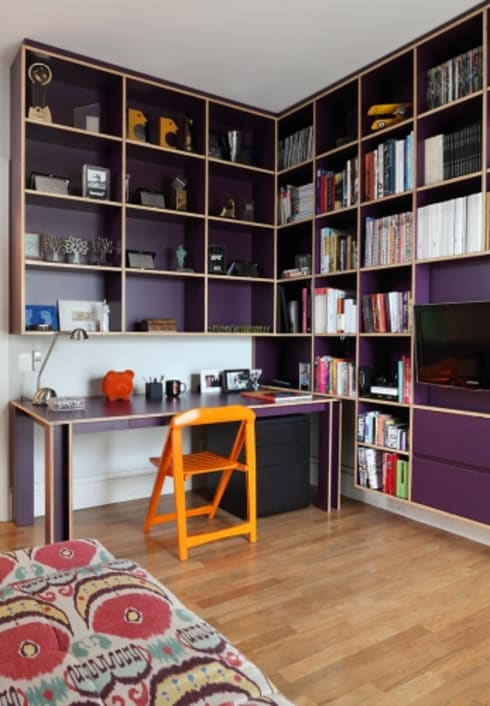 Apartamento Itaim: Escritórios  por Bruna Riscali Arquitetura e Design