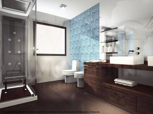 Instalação Sanitária: Casas de banho modernas por Living Atmosphere