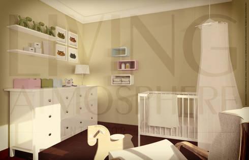 O quarto da Eva: Quartos de criança modernos por Living Atmosphere Kids