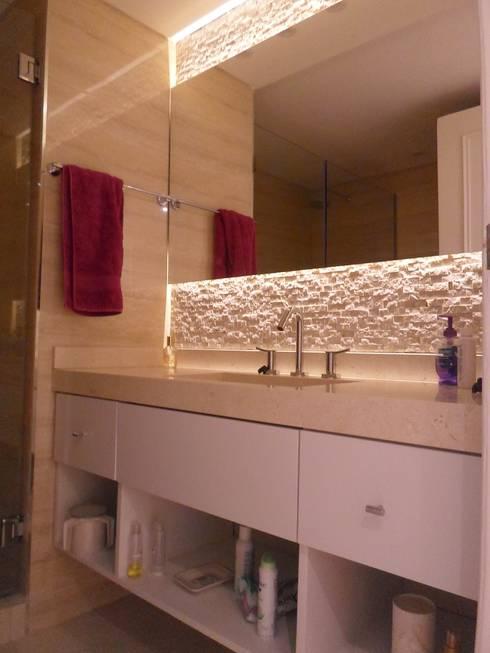 Baño en suite 2º: Baños de estilo moderno por Estudio BASS Arquitectura