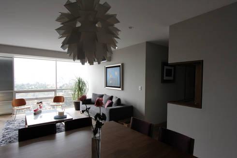 Penthouse SENS: Salas de estilo moderno por ARCO Arquitectura Contemporánea