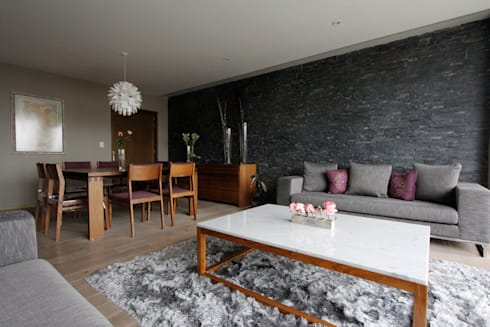 Penthouse SENS: Comedores de estilo moderno por ARCO Arquitectura Contemporánea