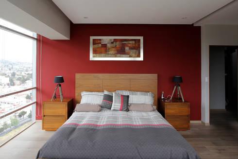 Penthouse SENS: Recámaras de estilo moderno por ARCO Arquitectura Contemporánea