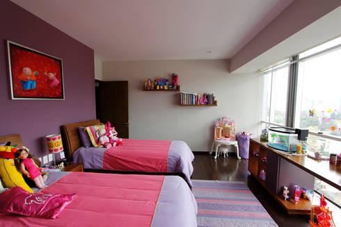 Penthouse SENS: Recámaras infantiles de estilo moderno por ARCO Arquitectura Contemporánea