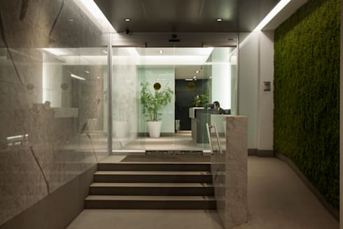 Lobby Insurgentes : Casas de estilo moderno por ARCO Arquitectura Contemporánea