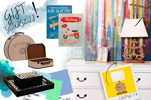 Sala - Living Room - Salon: Sala de estar  por Escolha Viva, Lda