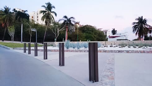 Bolardos Toluca: Jardín de estilo  por Diseño Neko