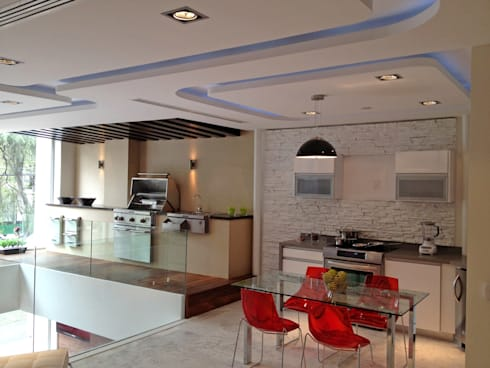 Kitchen Aid Polanco : Cocinas de estilo moderno por ARCO Arquitectura Contemporánea