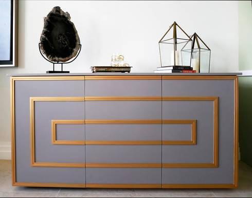 Macizo Carpintería: Salas de estilo moderno por Macizo Carpintería Mx